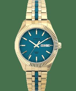 Waterbury Legacy Boyfriend Malibu 36mm Stainless Steel Bracelet Watch Gold-Tone/Blue large