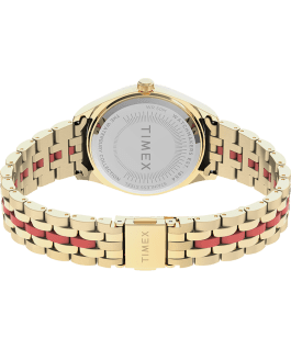 Waterbury Legacy Boyfriend Malibu 36mm Stainless Steel Bracelet Watch Gold-Tone/Orange large