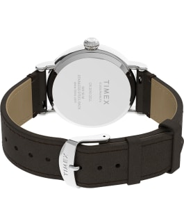 Timex Standard x Peanuts Featuring Snoopy Thanksgiving, Silver-Tone/Brown, large