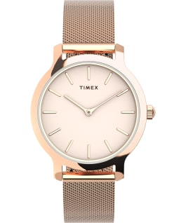 Transcend 31mm Stainless Steel Mesh Band Watch Rose-Gold-Tone/Pink large