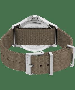 Navi XL 41mm Fabric Strap Watch Stainless-Steel/Tan/Black large