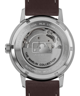 Marlin Automatic Chicago Cubs Stainless-Steel/Brown/Silver-Tone large