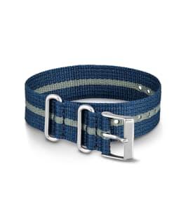 20mm Nylon Striped Strap Blue large