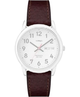 Replacement 18mm Leather Strap for Easy Reader Brown large