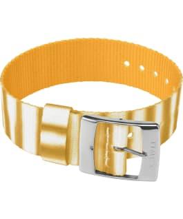 20mm Fabric Single Layer Slip Thru Strap with Tie Dye Pattern Yellow large