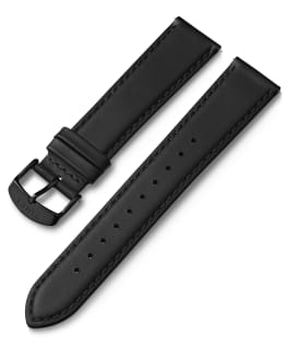 20mm Black Buckle Quick Release Leather Strap Black large