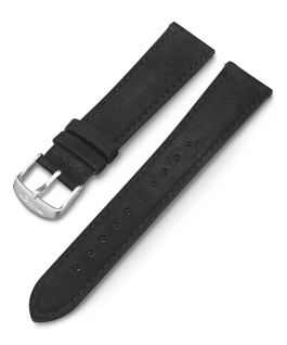20mm Quick Release Leather Strap with Timex Pay Black large