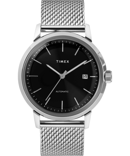 Marlin 40mm Automatic Mesh Bracelet Watch Timex Us