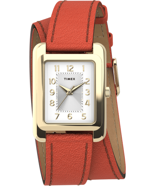 Addison Double Wrap 25mm Leather Strap Watch Timex Us