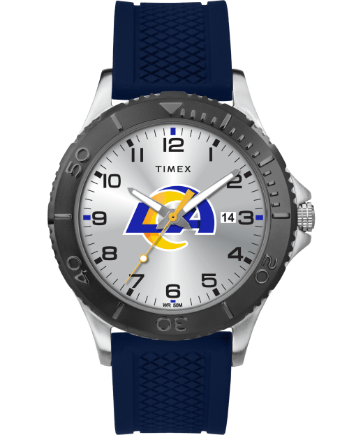 Gamer Blue Los Angeles Rams Watch Timex Tribute Nfl Collection