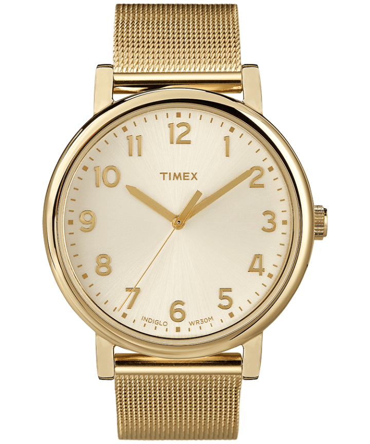 Originals 38mm Mesh Band Watch Gold-Tone/Champagne large