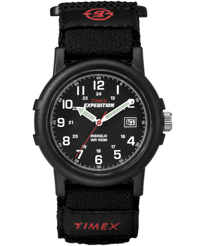 Expedition Camper 38mm Fabric FAST WRAP® Watch Black large