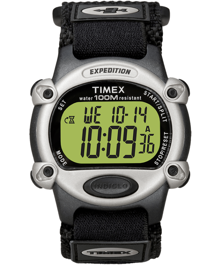 Expedition 39mm Fabric Strap Watch Black/Silver-Tone large
