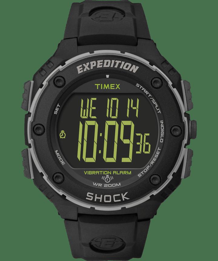Zegarek Expedition Shock XL z kopertą 50 mm i paskiem z żywicy Black/Gray large