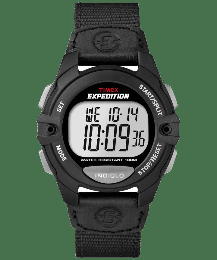 Expedition Chrono-Alarm-Timer 41mm Nylon Strap Watch Black large