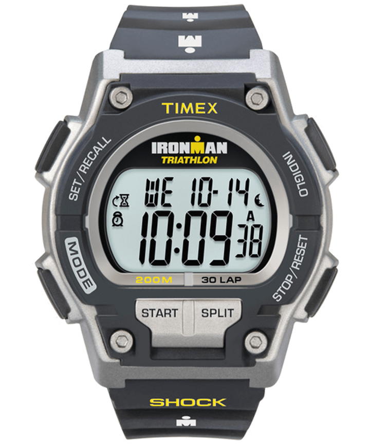 IRONMAN Original 30 Shock Full-Size Resin Strap Watch Black/Gray large
