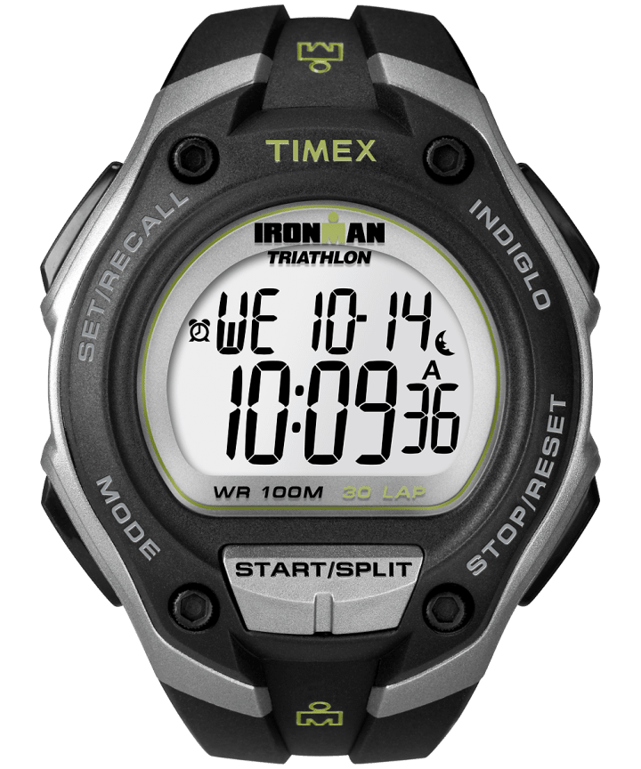 IRONMAN Classic 30 Oversized Resin Strap Watch Silver-Tone/Black large