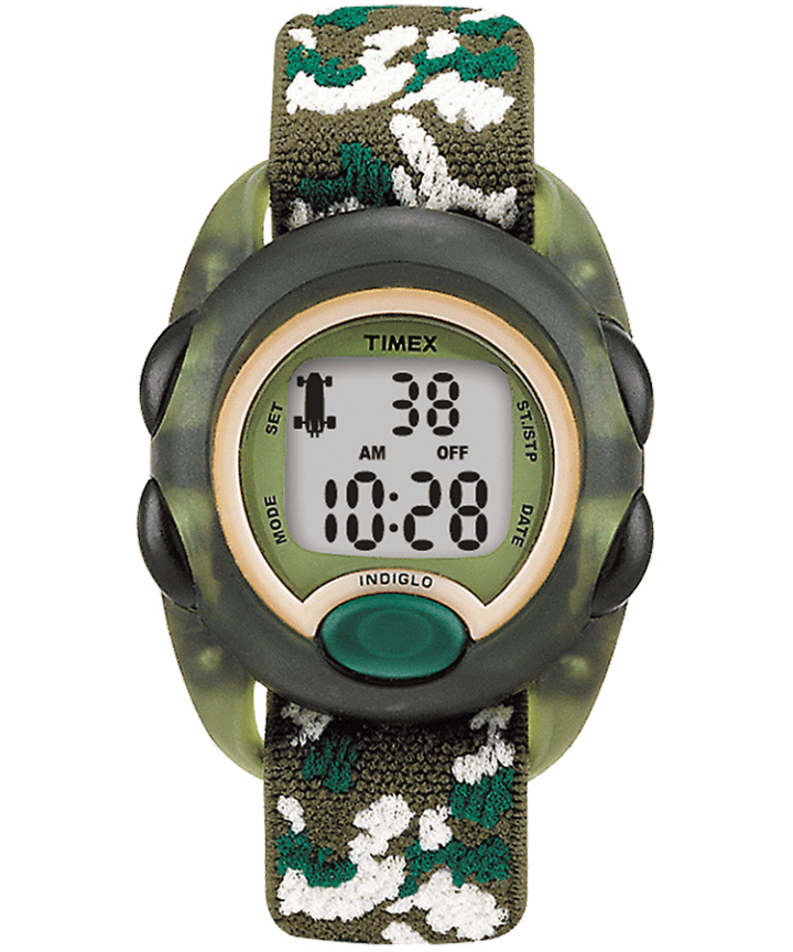 Kids Digital 34mm Elastic Fabric Strap Watch Green large