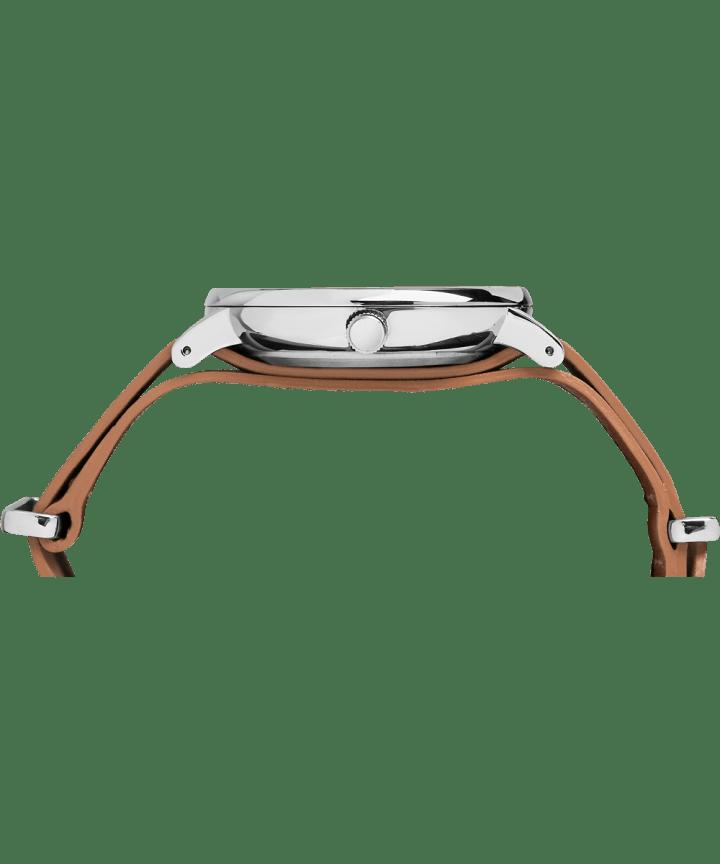 Fairfield Slip-Thru 41mm Leather Strap Watch Chrome/Tan/Blue large