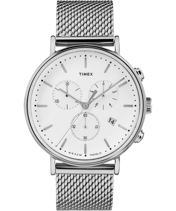 Fairfield Chronograph 41mm Mesh Stainless Steel Watch  large