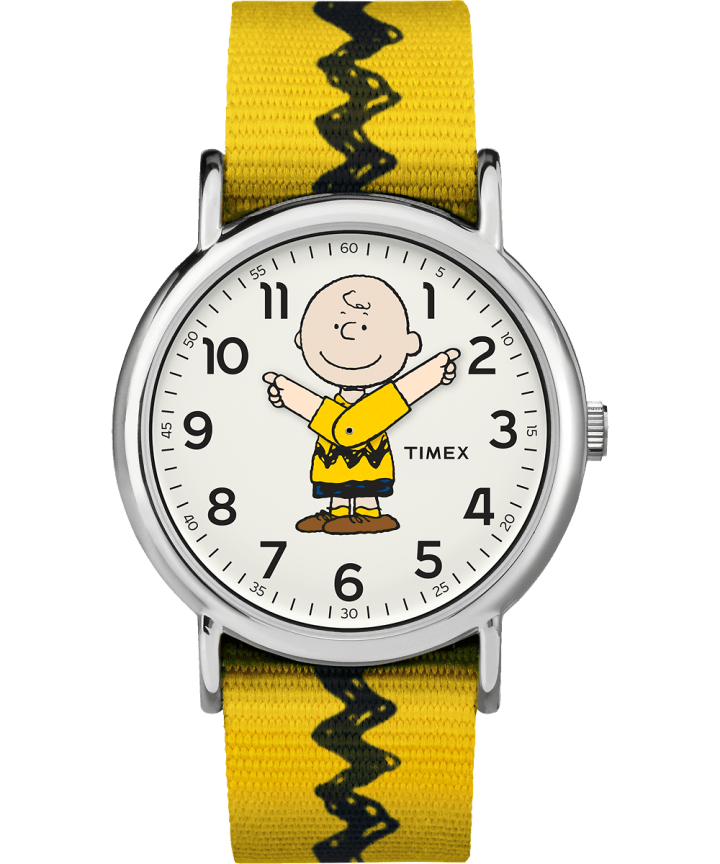Charlie Brown 38mm Nylon Strap Watch   large
