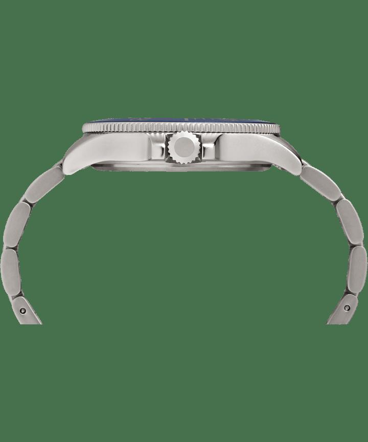 Allied® Coastline 43mm Bracelet Watch Silver-Tone/Blue large