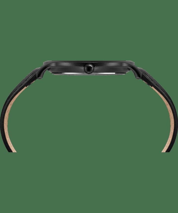 Metropolitan 40mm Leather Watch Black large