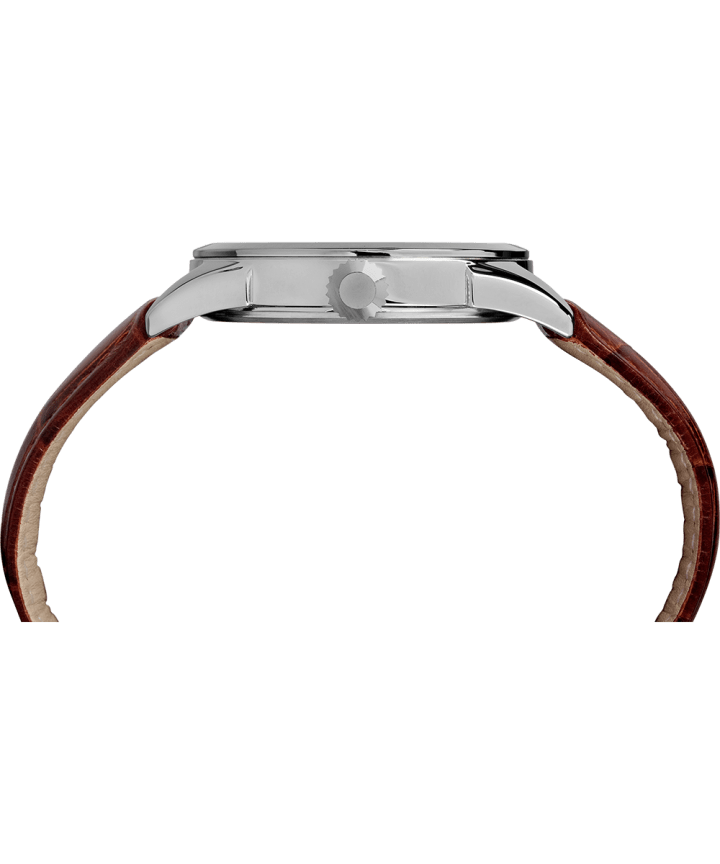 Easy Reader 38mm Leather Strap Watch Blue/Brown large