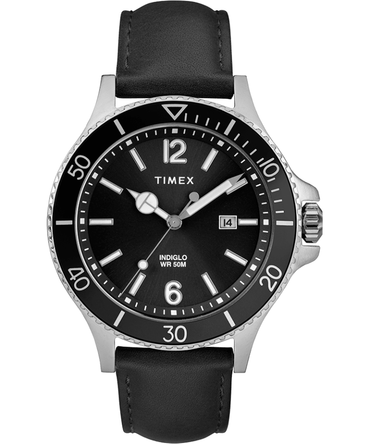 Harborside 42mm Leather Strap Watch  large