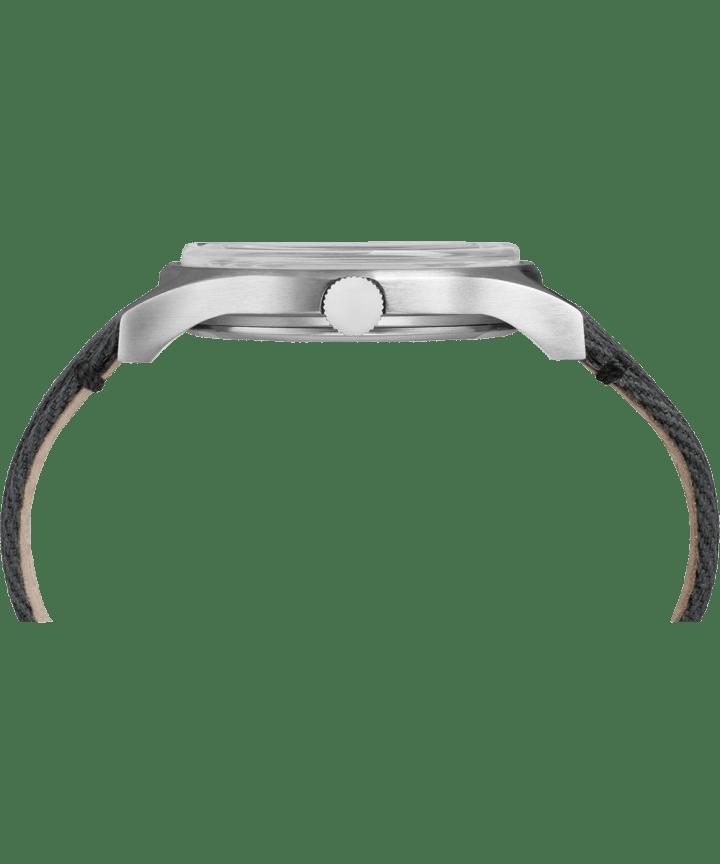 MK1 acier 40mm, grande, bracelet en tissu acier inoxydable/noir/gris