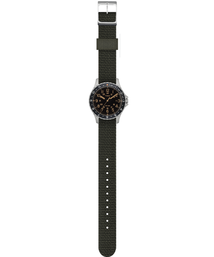 Navi Ocean 38mm Reversible Fabric Strap Watch  large