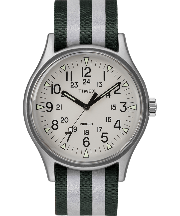 MK1 aluminium 40mm, grande, bracelet en nylon réfléchissant