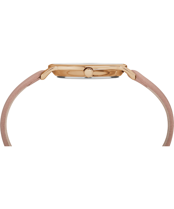 Metropolitan 34mm Leather Strap Watch Rose-Gold-Tone/Pink large