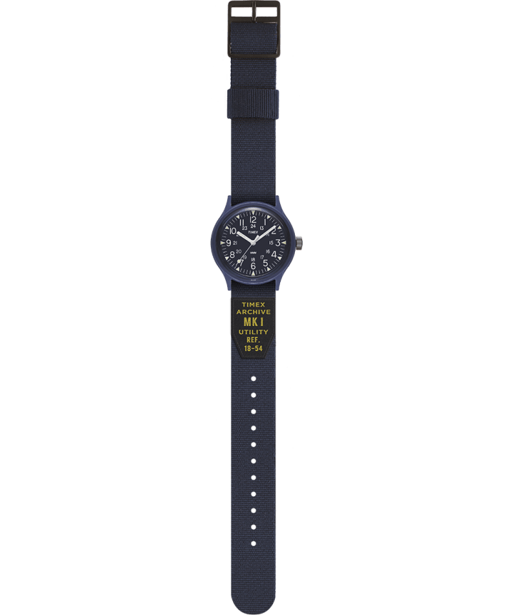 MK1 36mm Military inspired Grosgrain Strap Watch Blue large