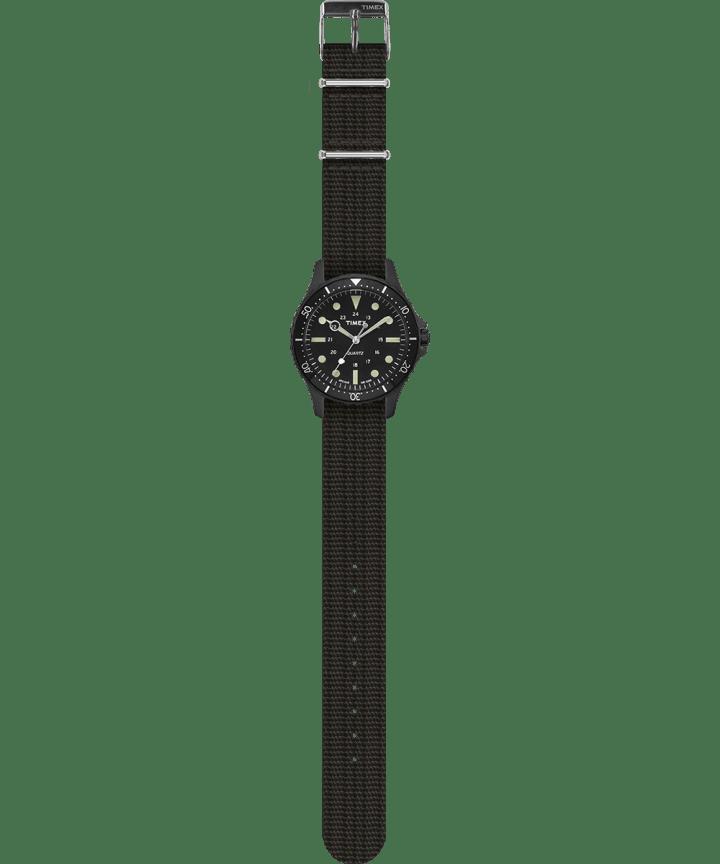 Navi Harbor 38mm Fabric Strap Watch Black/Black large