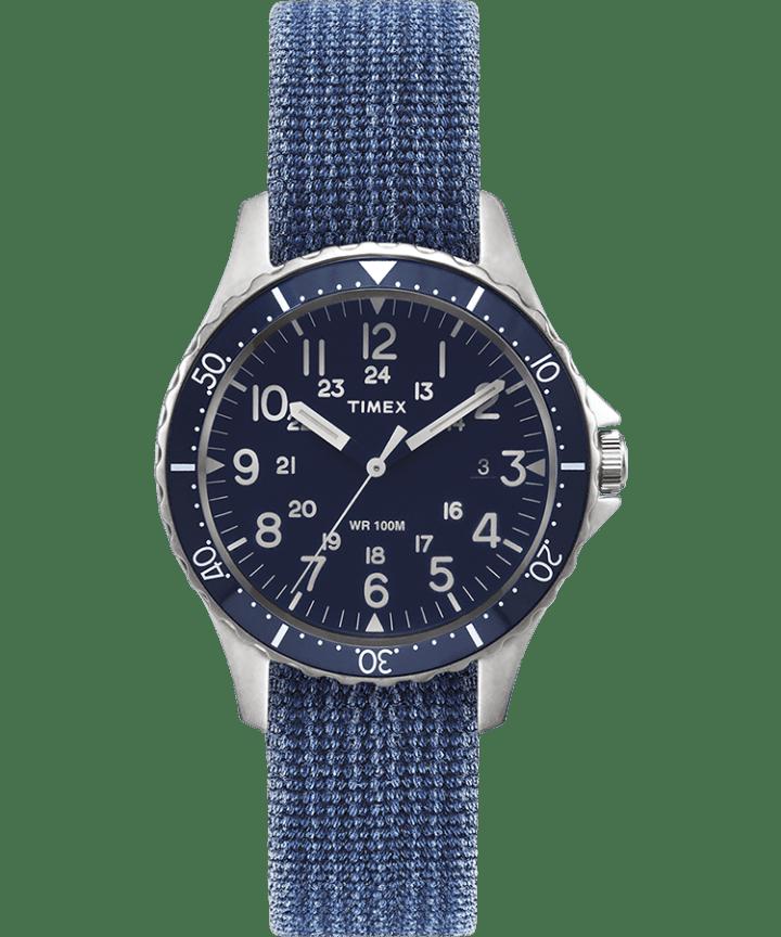 Navi Ocean 38mm Reversible Stonewashed Fabric Strap Watch  large