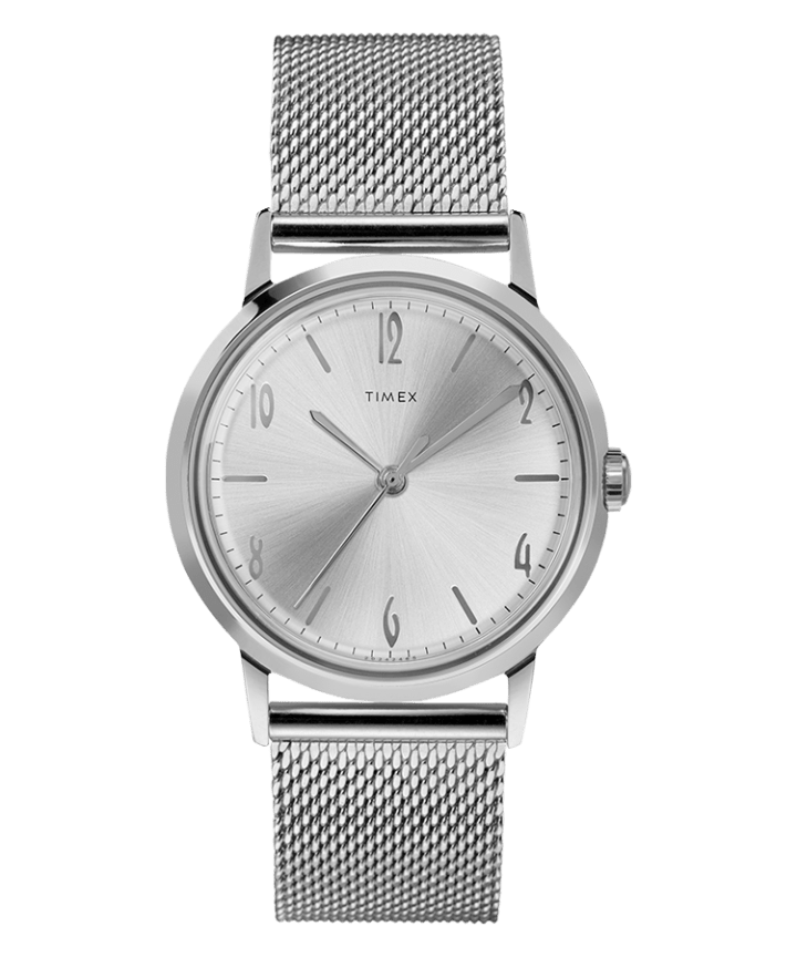 Marlin 34mm Hand Wound Stainless Steel Mesh Bracelet Watch  large