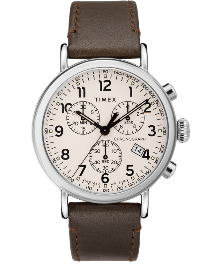 Standard Chronograph 41mm Leather Strap Watch  large