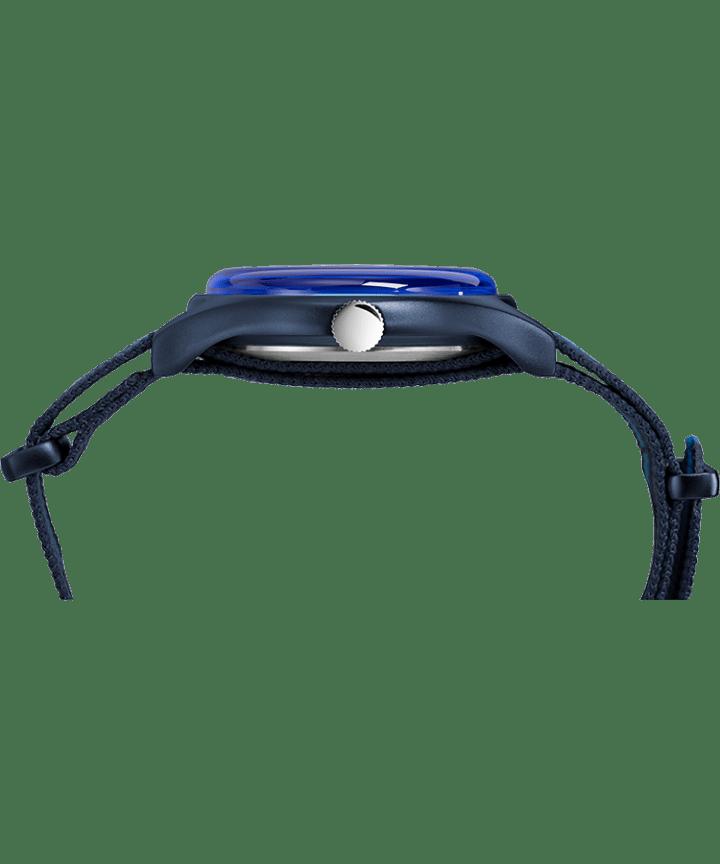 MK1 Aluminum California 40mm Fabric Strap Watch Blue large