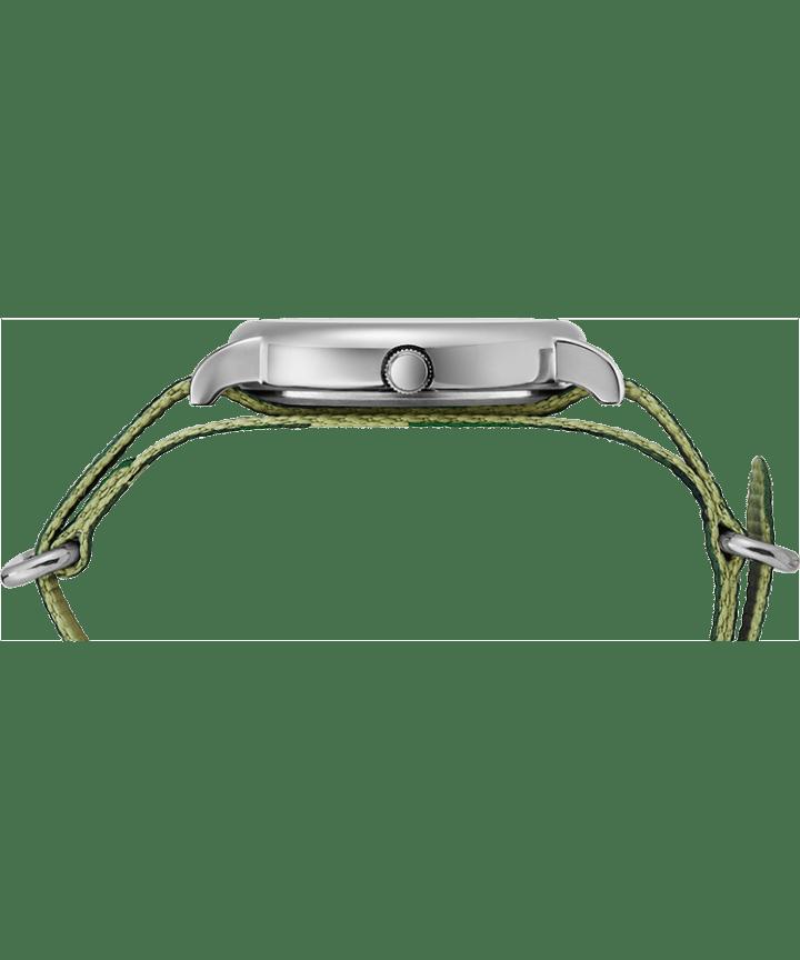 Weekender 40mm Camo Fabric Strap Watch Silver-Tone/Camo/Cream large