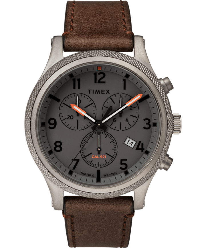 Allied LT Chronograph 42mm Leather Strap Watch  large