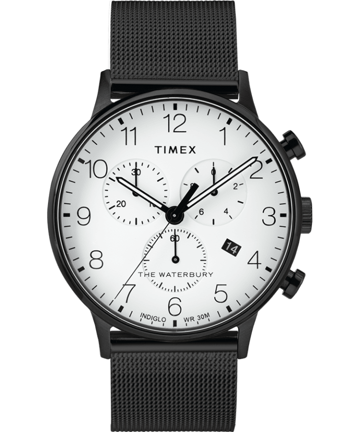 Waterbury 40mm Classic Chrono Mesh Bracelet Watch  large