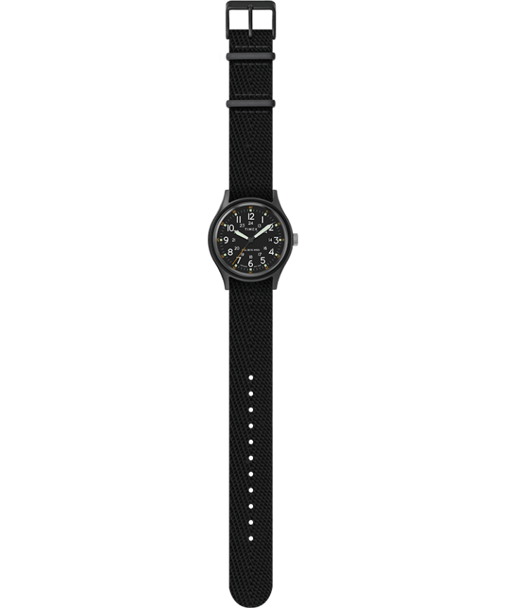 MK1 40mm Fabric Style Watch Black/Black large