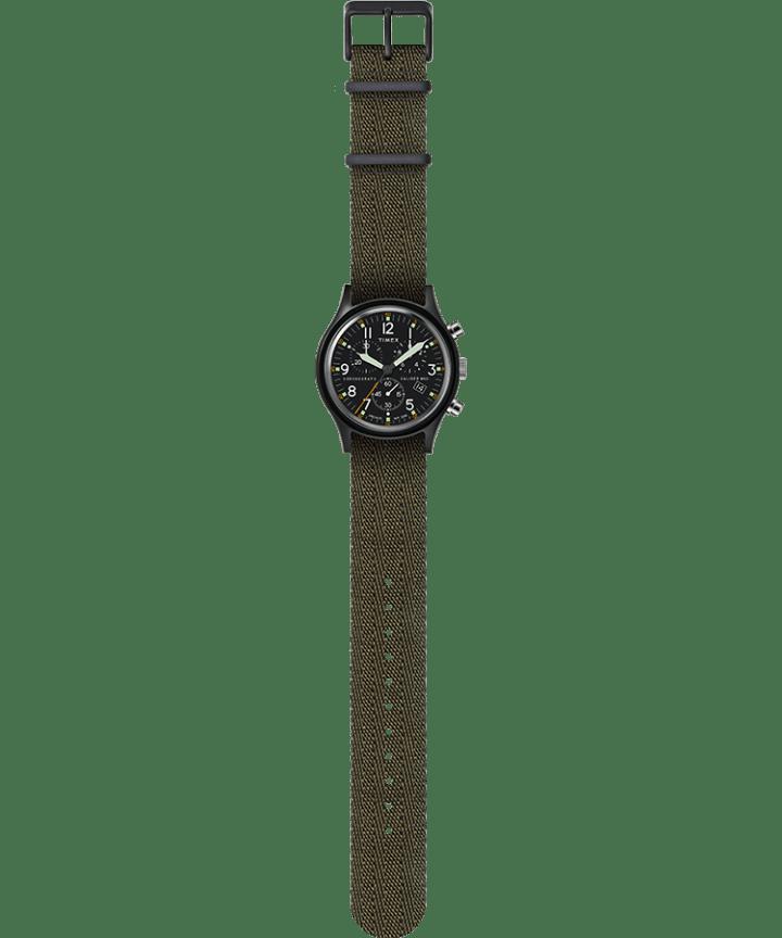 MK1 Chronograph 40mm Fabric Strap Watch Black/Green large