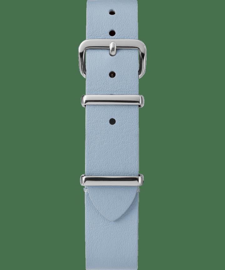 16mm Leather Slip-Thru Single Layer Strap Blue large