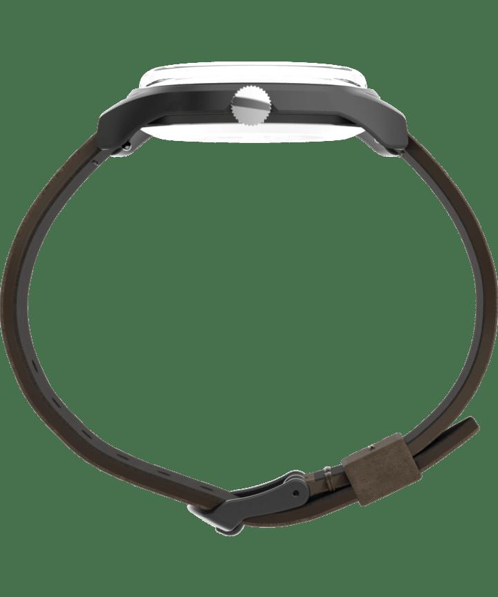 MK1™ Steel 40mm Leather Strap Watch Gunmetal/Brown large