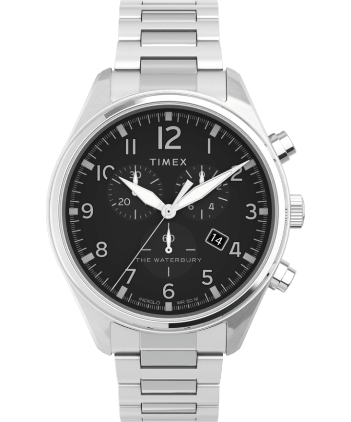Waterbury Traditional Chronograph 42mm Stainless Steel Bracelet Watch  large