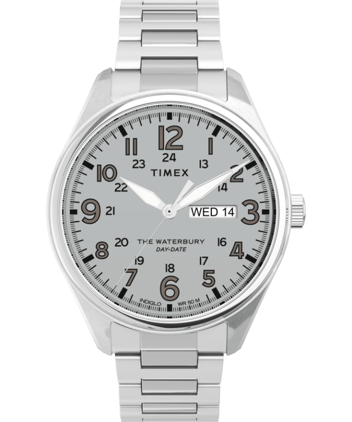Waterbury Traditional 42mm Stainless Steel Bracelet Watch  large