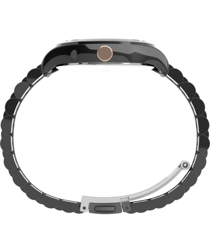 Waterbury Traditional 34mm Stainless Steel Bracelet Watch Gunmetal/Black/Rose-Gold-Tone large