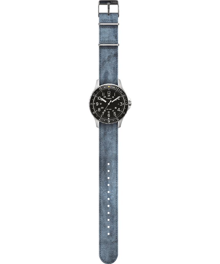 Navi Ocean 38mm Fabric Strap Watch Black/Blue large